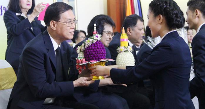 พิธิไหว้ครูมหาวิทยาลัยราชพฤกษ์ ประจำปีการศึกษา 2559